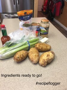 Twice baked potato ingredients